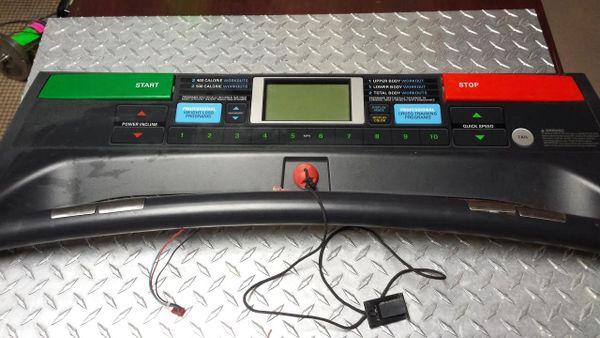 Proform 560 Cross Trainer Treadmill Top console/Circuit Board Used Ref. # JG2827