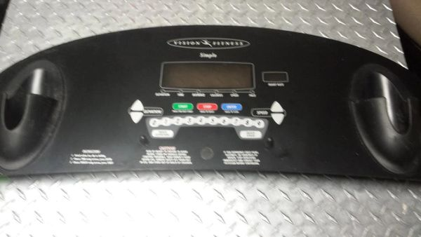 "Vision T9250/9450 Simple Treadmill Console Overlay (28 3/4"" WIDE) Used Ref. # JG3024"