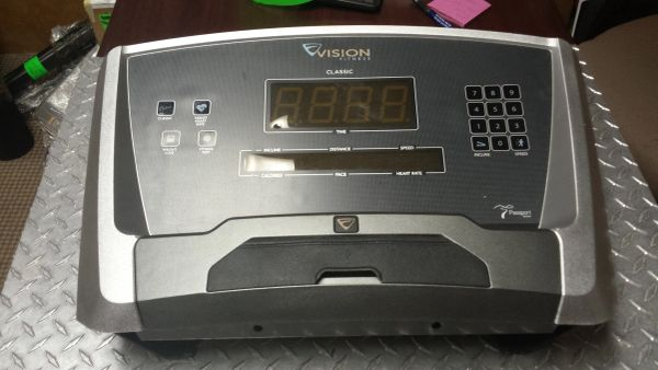 Vision Fitness Classic T40/T80 Treadmill Console Complete Used Ref. # JG3025
