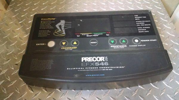 Precor EFX546 Elliptical Console Overlay Used Ref. # JG3356