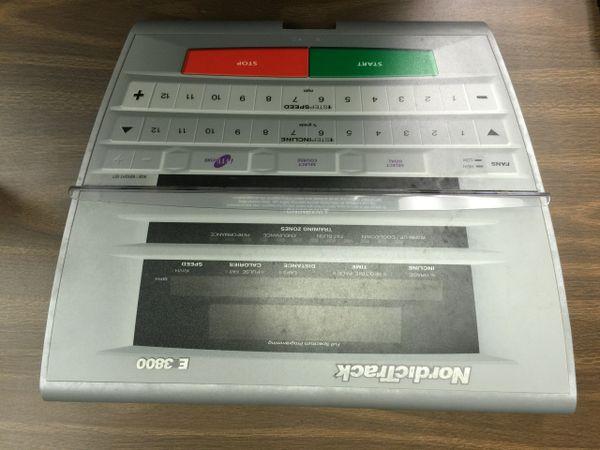 Nordic Track E3800 Treadmill Console overlay STL-954