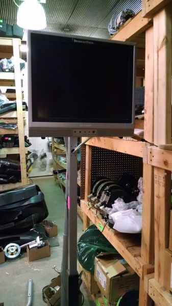 "Sharp 15"" TV Cardio Monitor with Adjustable Height Mount Used Ref. #SMW31"