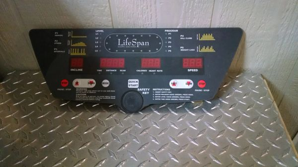LifeSpan TR1550-SL Console Overlay/Circuit Board Used Ref. # jg3900