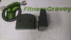 LifeFitness 95Ti End Caps - Front Pair - Used - REF#1038SH
