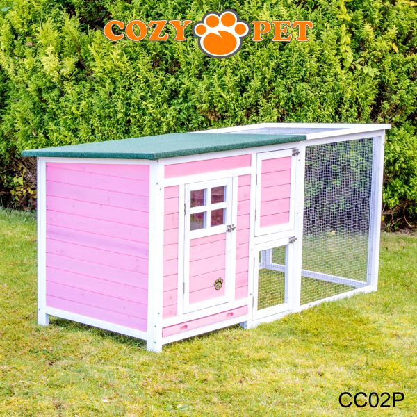 Chicken Coop With Run By Cozy Pet Hen House Poultry Coup Rabbit Hutch CC02P