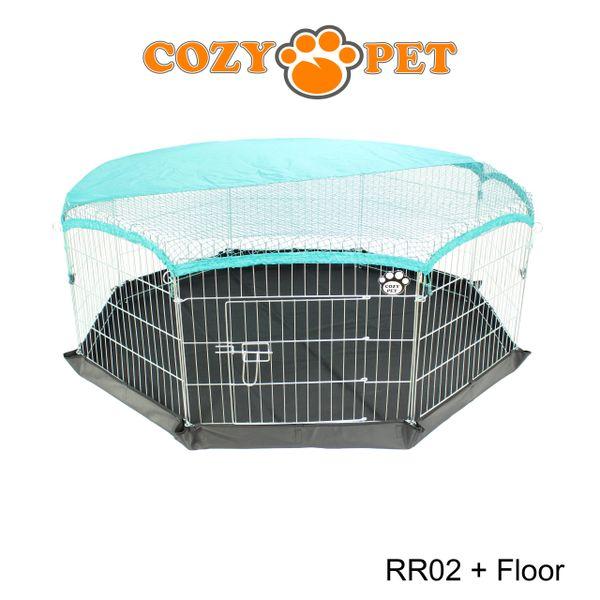 Cozy Pet Rabbit Run 8 Panel Playpen With Sunshade And Floor Rr02 Floor