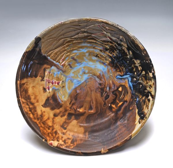 Wide Bowl ,Wavy Brown. and Blue/Photo by Greg Staley
