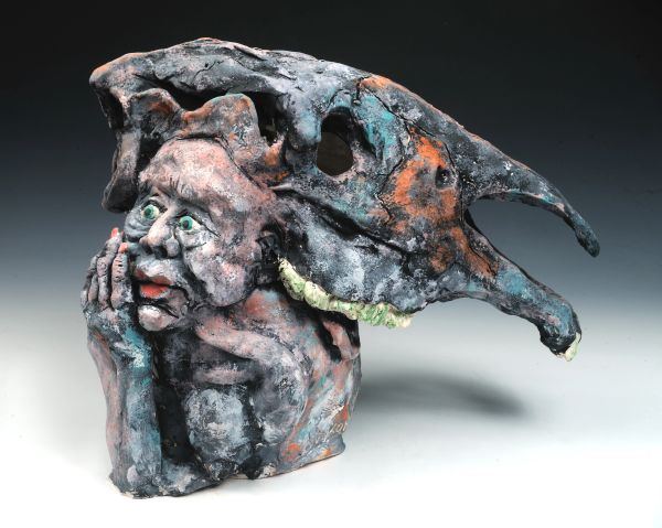 Equi, Handbuilt Stoneware, underglaze/Photo by Greg Staley