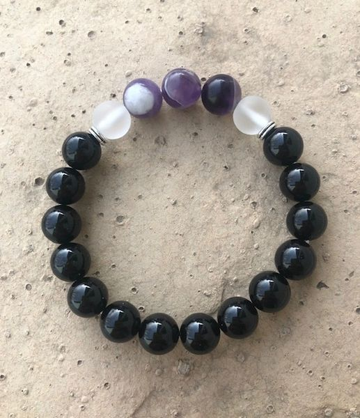 Women's Beads Tourmaline, Quartz & Cape Amethyst