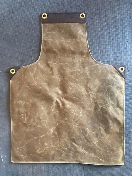 Blank Slate HD Waxed Canvas & Leather Apron