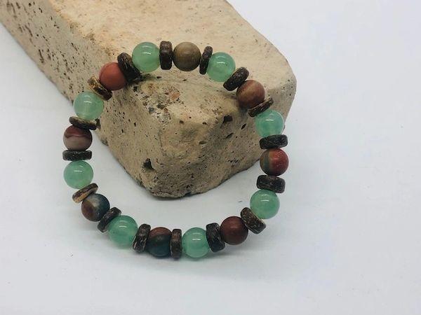 Women's Beads Amazonite, Coconut & Agate