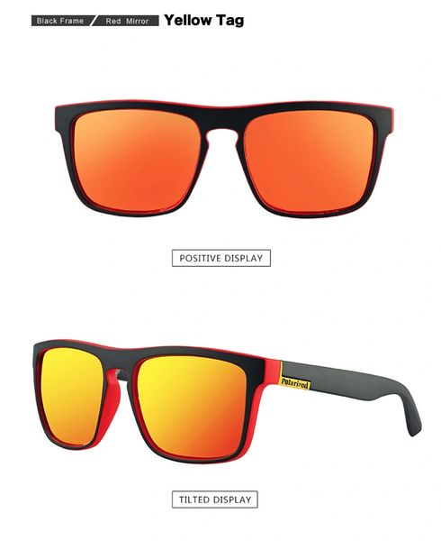 FREE Hard Case Retro Polarized Sunglasses UV400 RED Aussie Outlet Online