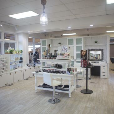 Glow Salon and Spa's Retail Area