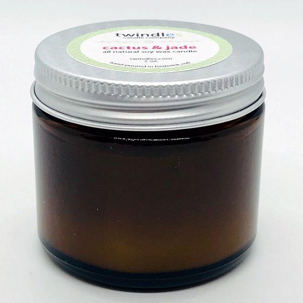 Bargain Bin | 2 OZ. Amber Jar | Cactus Flower & Jade | twindles