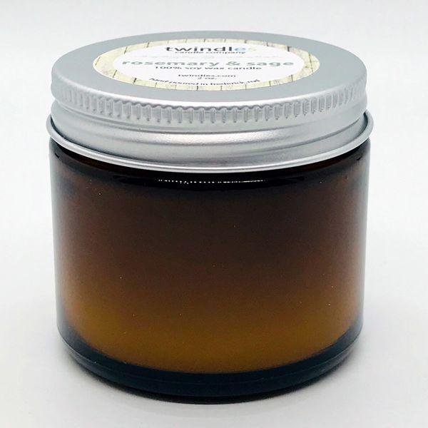 Bargain Bin | 2 OZ. Amber Jar | Rosemary & Sage | TWINDLES