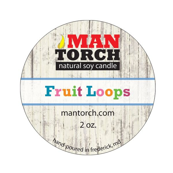 2 OZ. Fruit Loops NATURAL SOY CANDLE