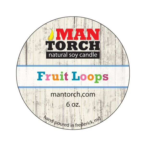6 OZ. Fruit Loops NATURAL SOY CANDLE