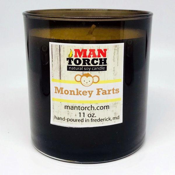 Monkey Farts soy candle | 11oz. glass tumbler | 50+ hr burn time