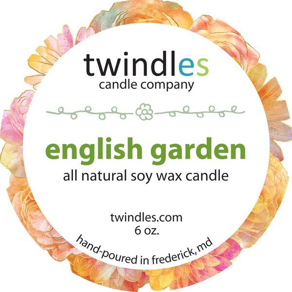 Bargain Bin | english garden SOY CANDLE | 6OZ. TRAVEL TIN | 25+ HR BURN TIME