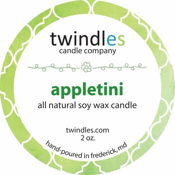 Bargain Bin | appletini soy candle | 2 oz. travel tin | 12+ hr burn time