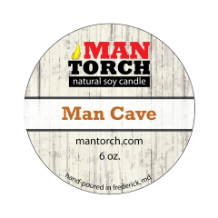 6 oz. Man Cave Natural Soy Candle