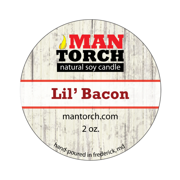 2 oz. Lil' Bacon Natural Soy Candle