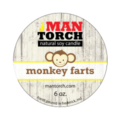 6 oz. Monkey Farts Natural Soy Candle