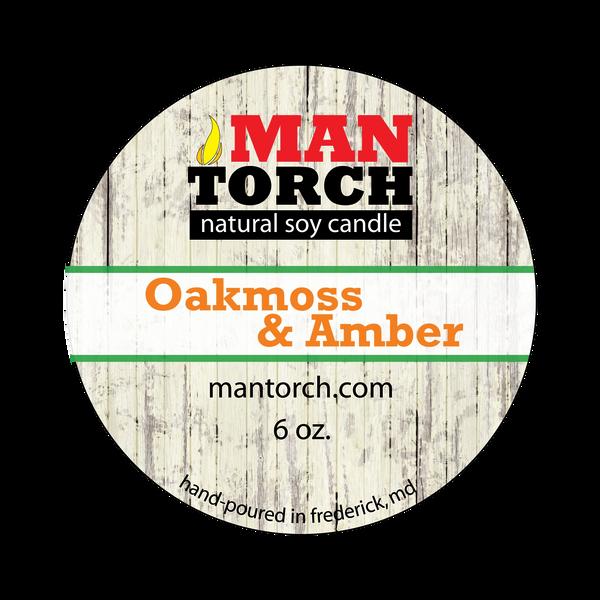 6 oz. Oakmoss & Amber Natural Soy Candle