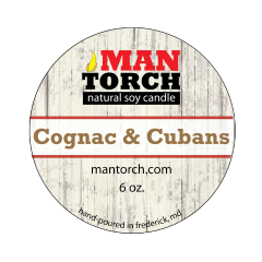 6 oz. Cognac & Cubans Natural Soy Candle