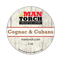 2 oz. Cognac & Cubans Natural Soy Candle