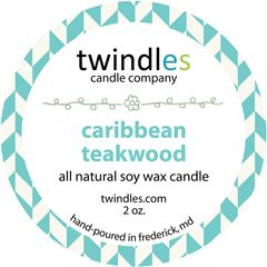 caribbean teakwood soy candle | 2oz. travel tin | 12+ hr burn time