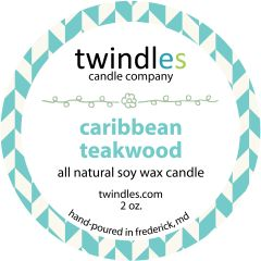 caribbean teakwood soy candle | 2oz. travel tin | 12+ hr burn time