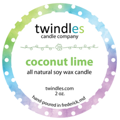coconut lime soy candle | 2oz. travel tin | 12+ hr burn time