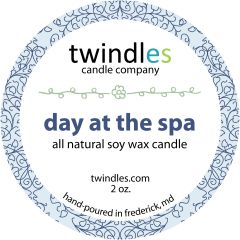day at the spa | 2 oz. travel tin | 12+ hr burn time