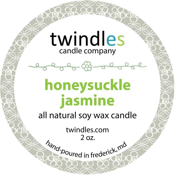 honeysuckle jasmine | 2 oz. travel tin | 12+ hr burn time