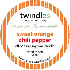 2 oz. tin - sweet orange chili pepper - twindles