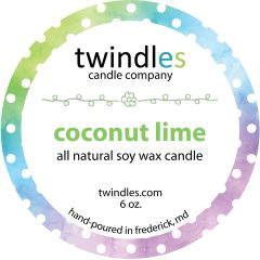 coconut lime soy candle | 6oz. travel tin | 25+ hr burn time