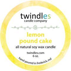6 oz. tin - lemon pound cake - twindles