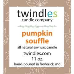 pumpkin souffle soy candle | 50+ hr burn time