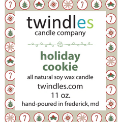 holiday cookie soy candle | 50+ hr burn time