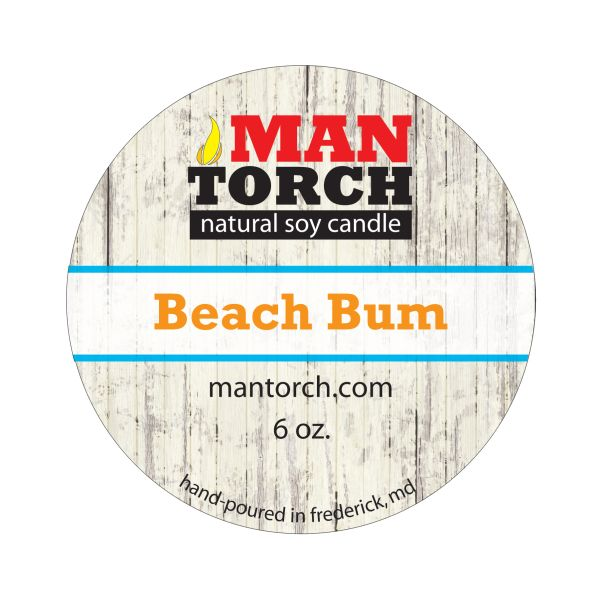 6 oz. Beach Bum Natural Soy Candle