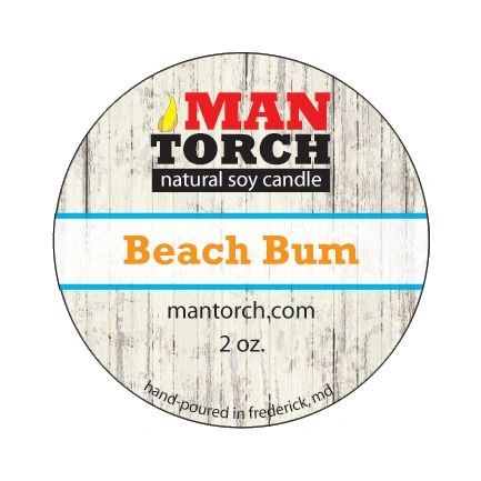 2 oz. Beach Bum Natural Soy Candle