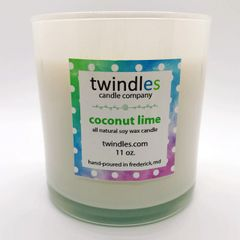 coconut lime soy candle | 50+ hr burn time