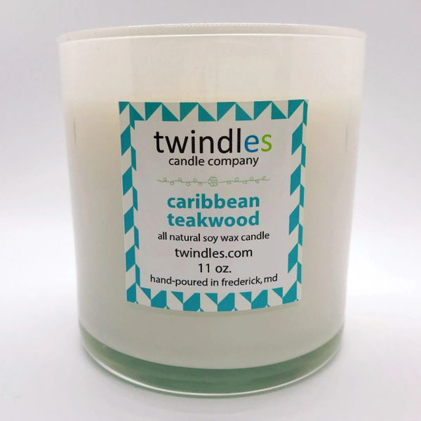 caribbean teakwood soy candle | 50+ hr burn time