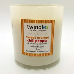 sweet orange chili pepper soy candle | 50+ hr burn time