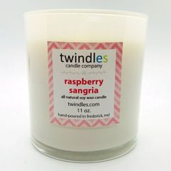 raspberry sangria soy candle | 50+ hr burn time