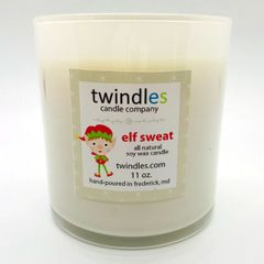 elf sweat soy candle | 50+ hr burn time