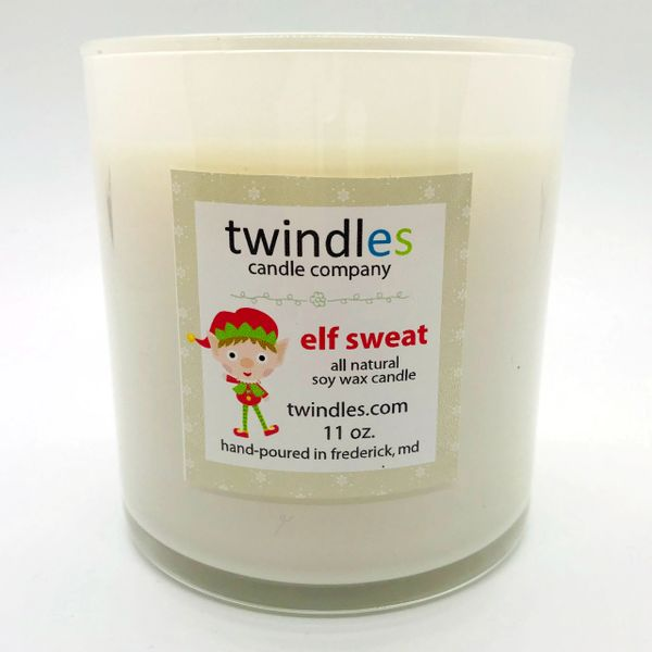 Bargain Bin | elf sweat soy candle | 50+ hr burn time