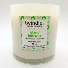 island hibiscus soy candle | 50+ hr burn time