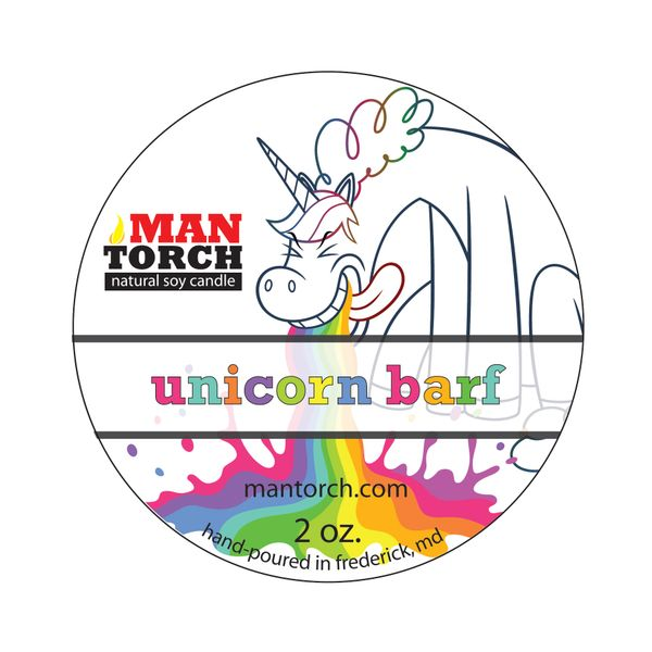 Unicorn Barf soy candle | 2oz. tin | 12 - 15 hr burn time